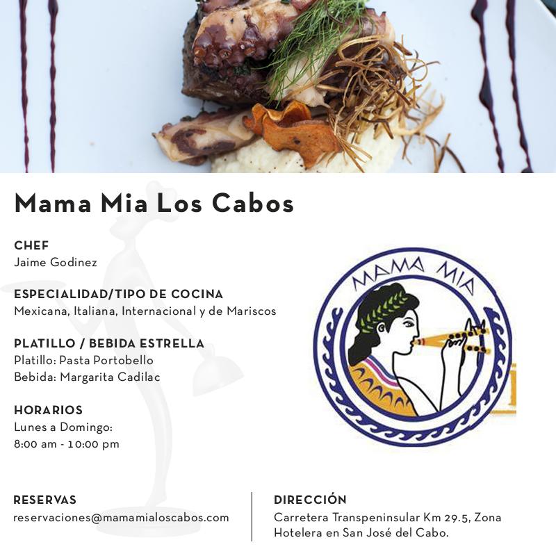 Mama Mia – Culinary Awards Los Cabos 2019
